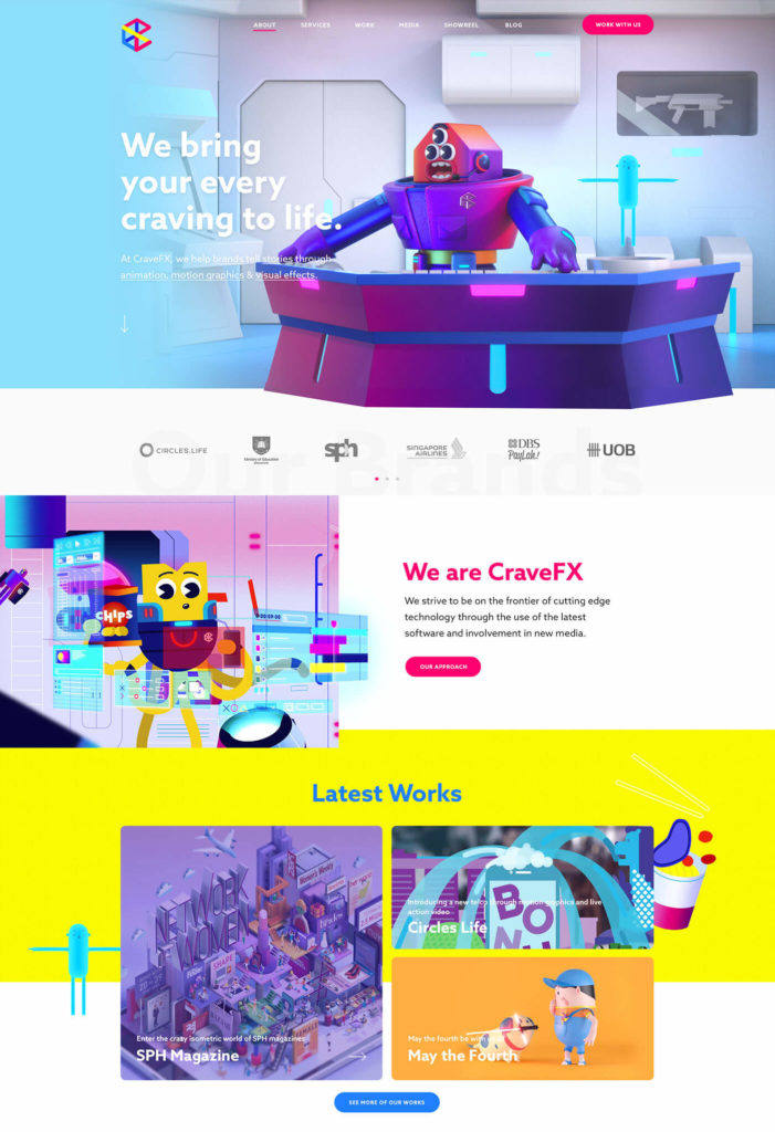 CraveFX Website Redesign